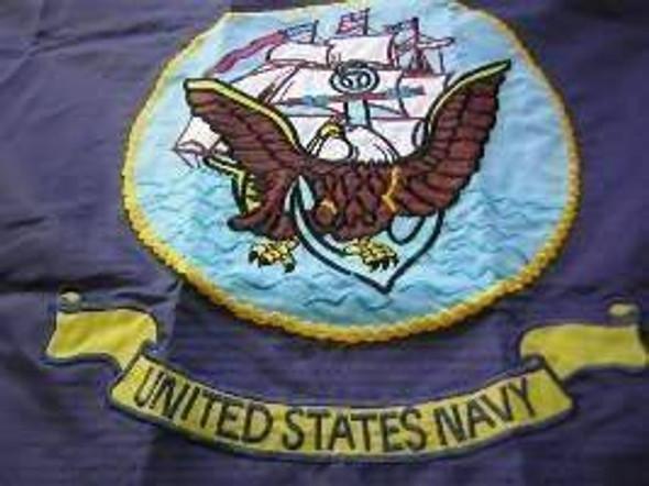 Navy Flag  Nylon Embroidered 3x5 ft