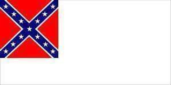 Second National Confederate Flag  5 X 8 ft. Jumbo