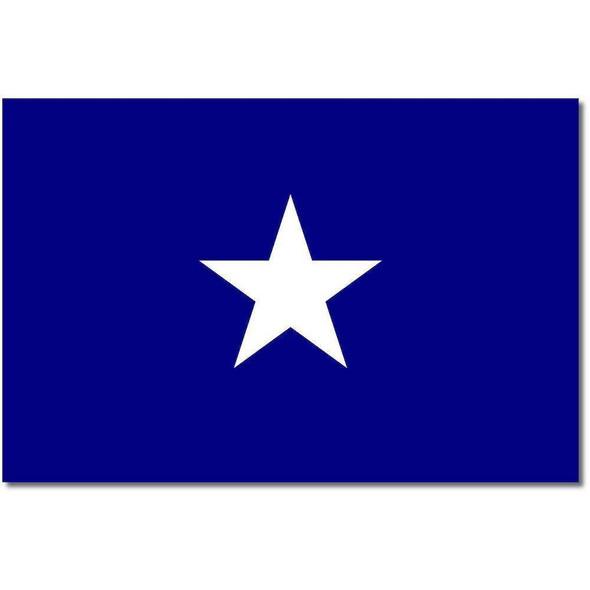 Bonnie Blue Flag 4x6 inch on stick