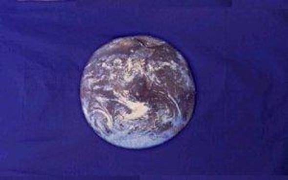 Earth Flag (Blue) NASA photo Flag 12 x 18 inch on Stick