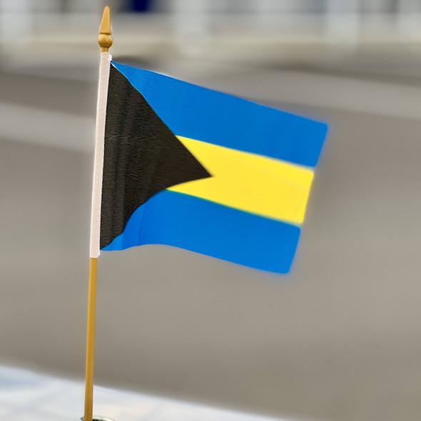 Bahamas Flag 4x6 inch on stick