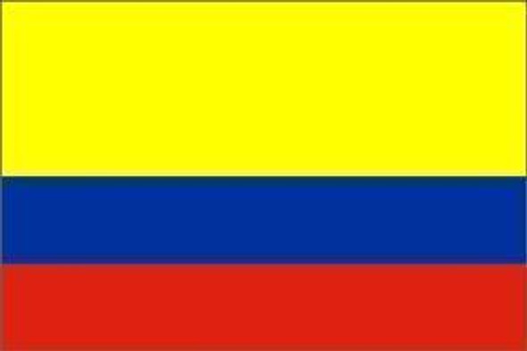 Colombia Flag, Colombian Flag 4 X 6 inch on stick