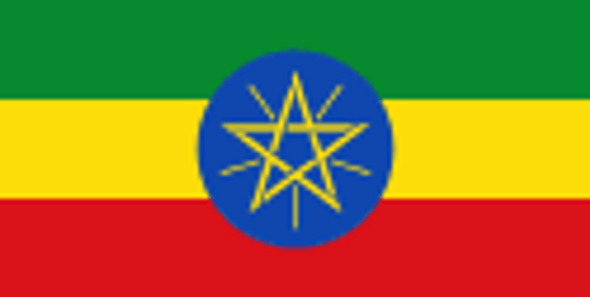 Ethiopia Flag 4 X 6 inch on stick