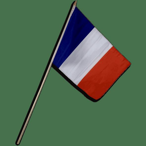 France Flag 12 x 18 inch on Stick
