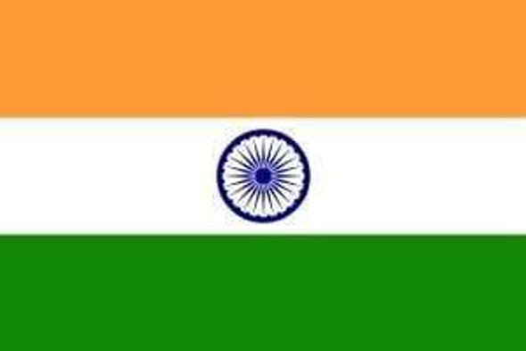 India Flag 4 X 6 inch on stick