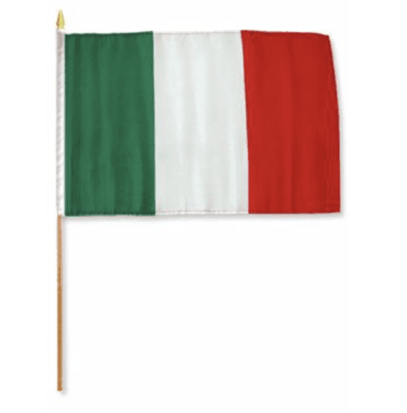 Italy Flag 4 X 6 inch on stick