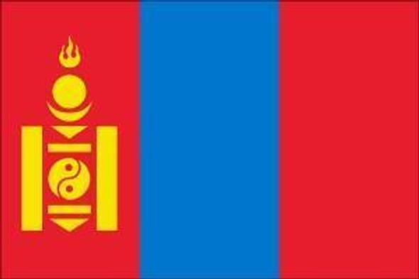Mongolia Flag 4 X 6 inch on stick