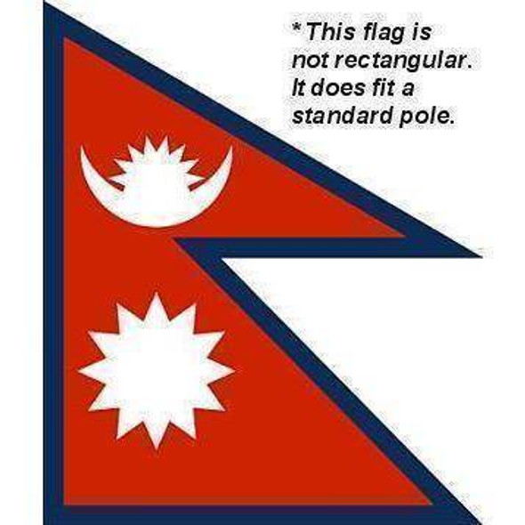 Nepal Flag 4 X 6 inch on stick
