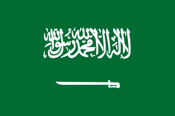 Saudi Arabia Flag 4 X 6 inch on stick
