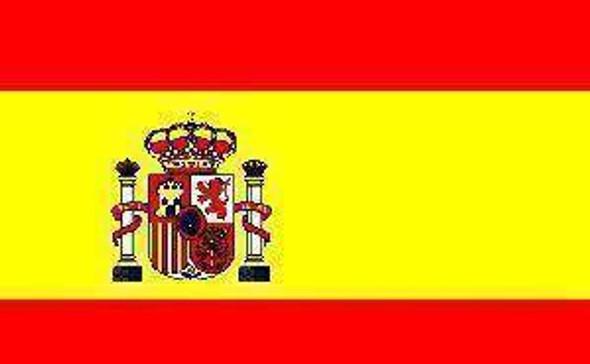 Spain Flag 12 x 18 inch on Stick