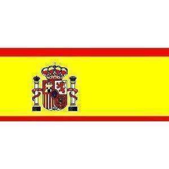 Spain Flag 4 X 6 inch on stick