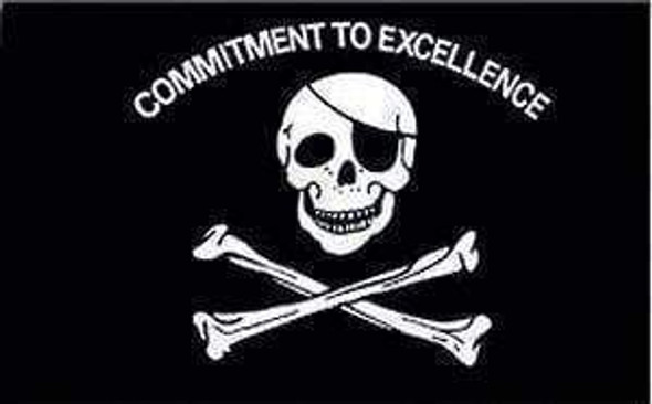 Pirate Flag, Commitment to Excellence 2 X 3 ft. Junior