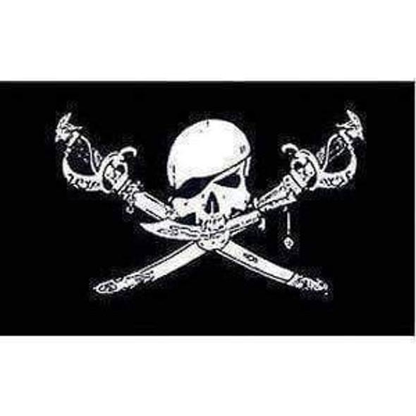 Pirate Flag, Brethren Of the Coast Jolly Roger Flag  5 X 8 ft. Jumbo