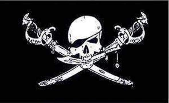 Brethren Of the Coast Flag - Pirate Jolly Roger Flag 12 X 18 inch with grommets Standard