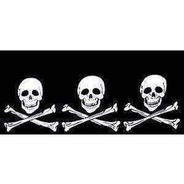 3 Skulls Jolly Roger Pirate Flag 2 X 3 ft. Junior