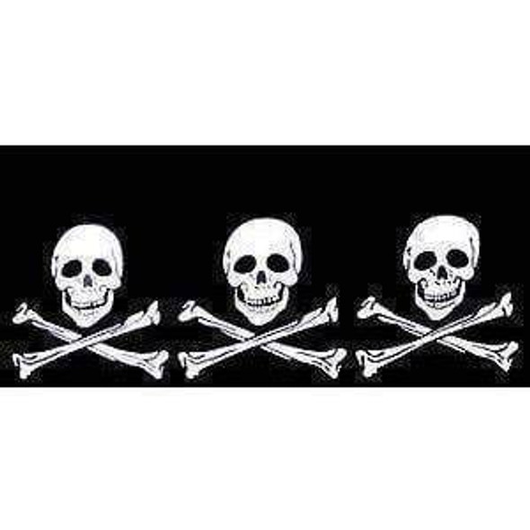 3 Skulls Jolly Roger Pirate Flag 12 X 18 inch with grommets Standard