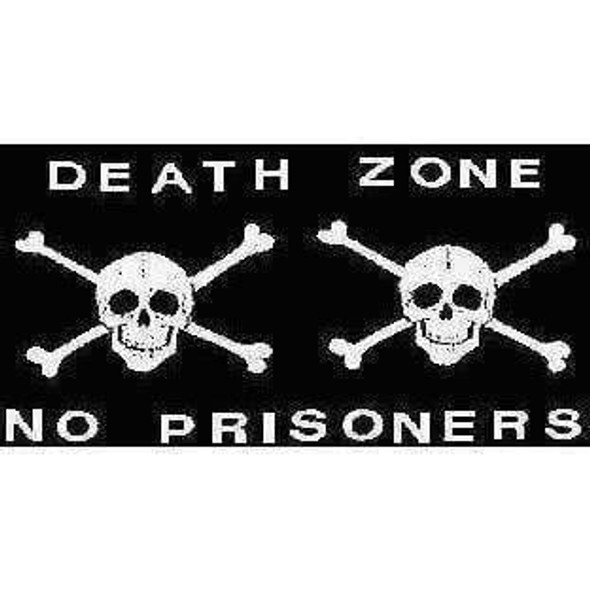 Pirate Flag Death Zone Jolly Roger, Pirate No Prisoners Flag 12 X 18 inch with grommets Standard