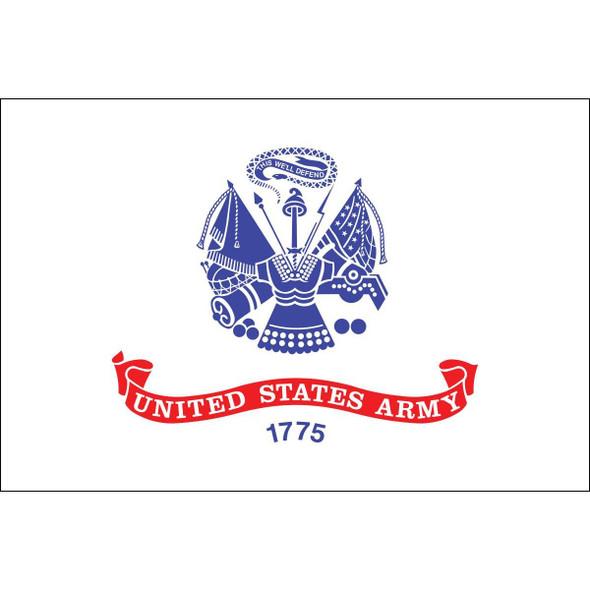 US Army Flag 12x18 inch on Stick