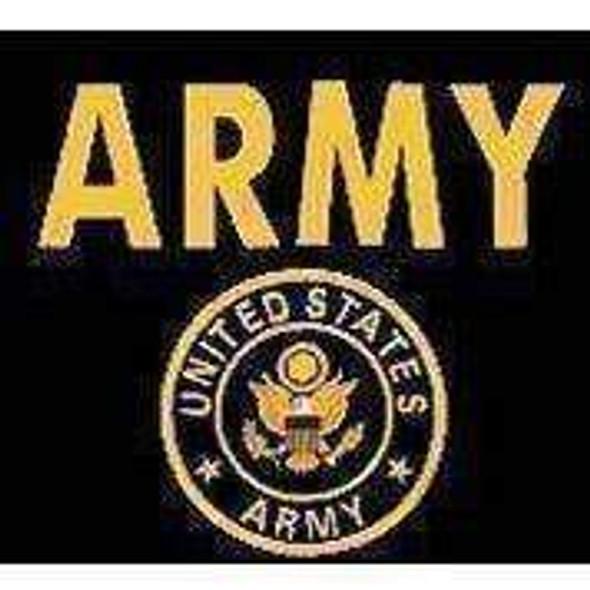 U.S. Army Gold Flag 12 x 18 inch on Stick