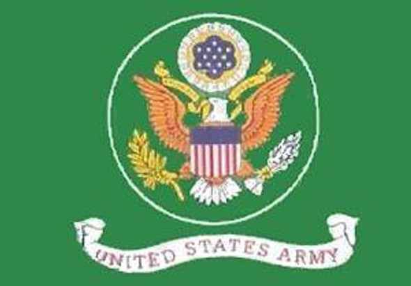 U.S. Army Green Flag 12 x 18 inch on Stick