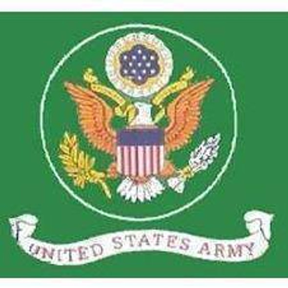 U.S. Army Green Flag 4 X 6 inch on stick