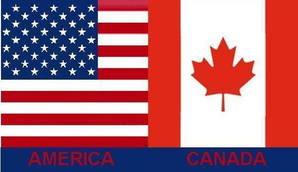 USA & Canada Flag 3x5 ft Economical