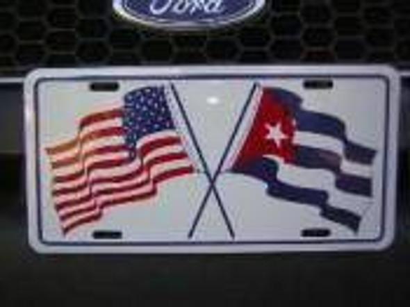 Cuba & USA License Plate-1