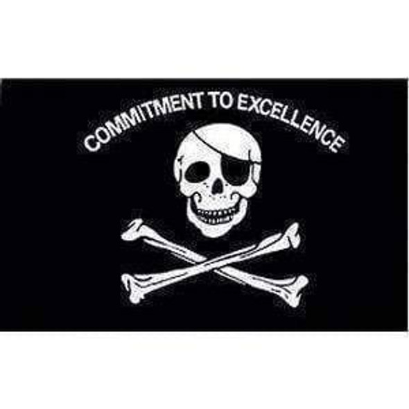 Pirate Flag, Commitment to Excellence 12 x 18 inch With Grommets