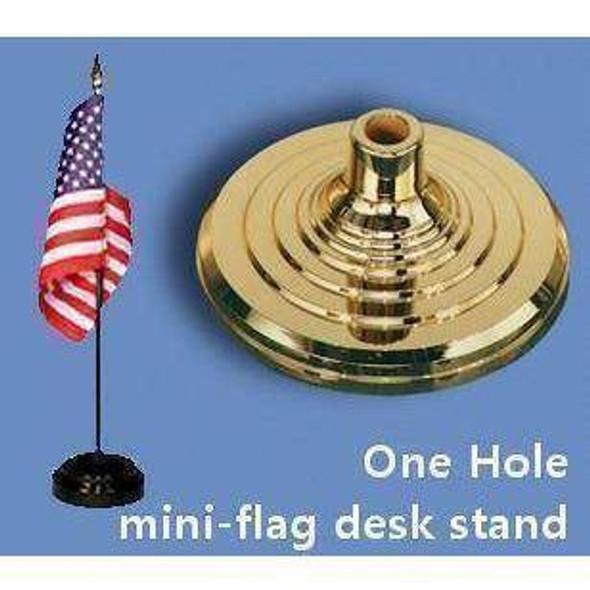 Desk Stand Flag Holder - 1 hole (gold)