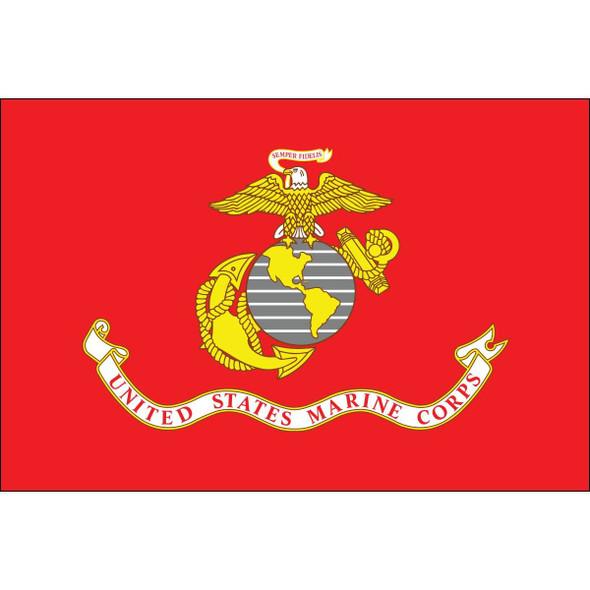 USMC Marine Corps Flag Nylon Printed Flag Made in USA