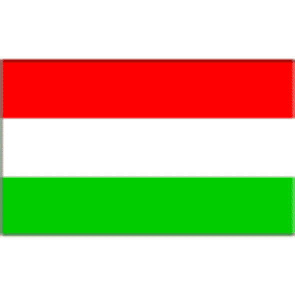 Hungary 2 x 3 Nylon Dyed Flag (USA Made)