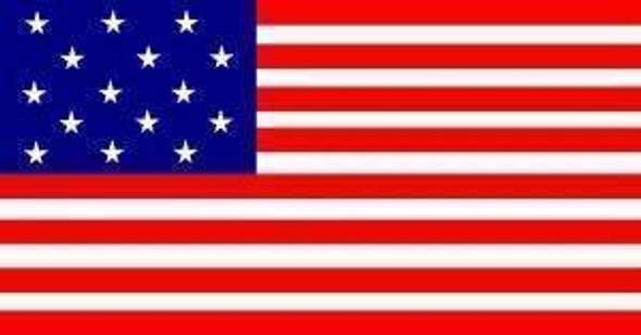 15 Stars 15 Stripes U.S. 2 x 3 Nylon Appliqued Flag (USA Made)