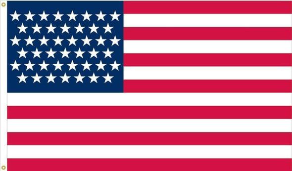 48 Star American Flag - Nylon Sewn Applique Stars Made in USA