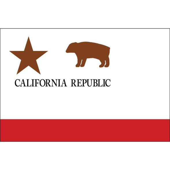 California Republic Flag 3 x 5 Nylon Dyed - Made in USA