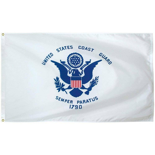 Coast Guard Flag - Outdoor - Commercial - All Sizes - Nylon Made in USA