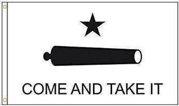Gonzales Come and Take It Flag 3 x 5 Nylon Dyed (USA Made)