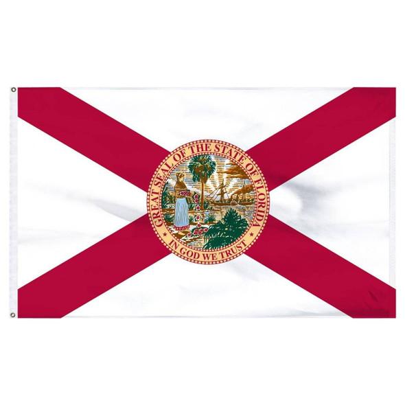 3'x5' Florida Flag - Outdoor - Nylon Dyed Flag (USA Made)