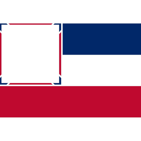 Mississippi State Flag Made in USA Nylon Printed