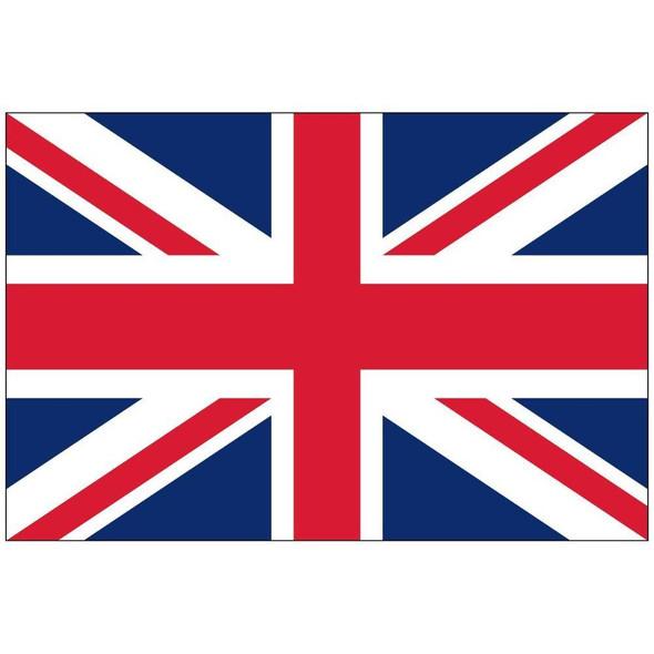United Kingdom Flag Nylon Cut & Sewn  Flag Made in USA