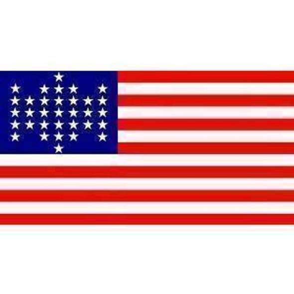 33 Star US Flag - Union Civil War Flag - 3 x 5 - Nylon Ft Sumter  (USA Made)