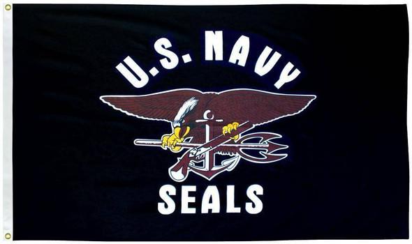 Navy Seals 3 x 5 E-Poly Flag