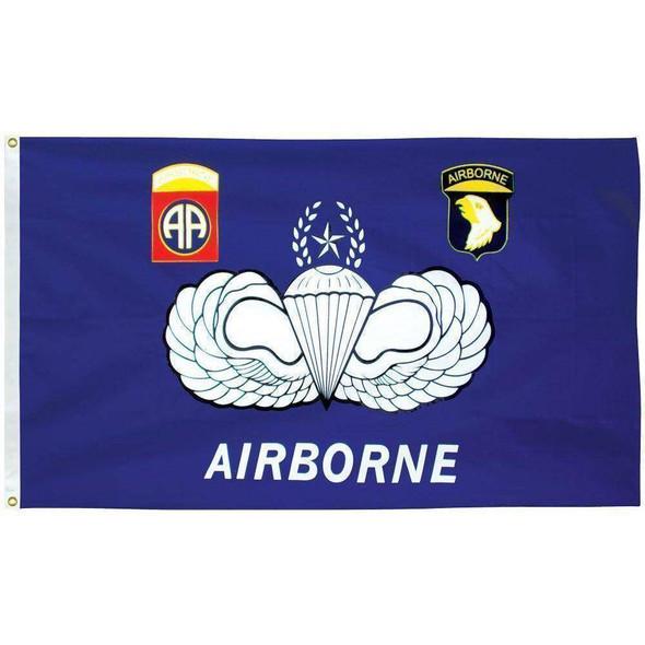 Airborne 3 x 5 E-Poly Flag