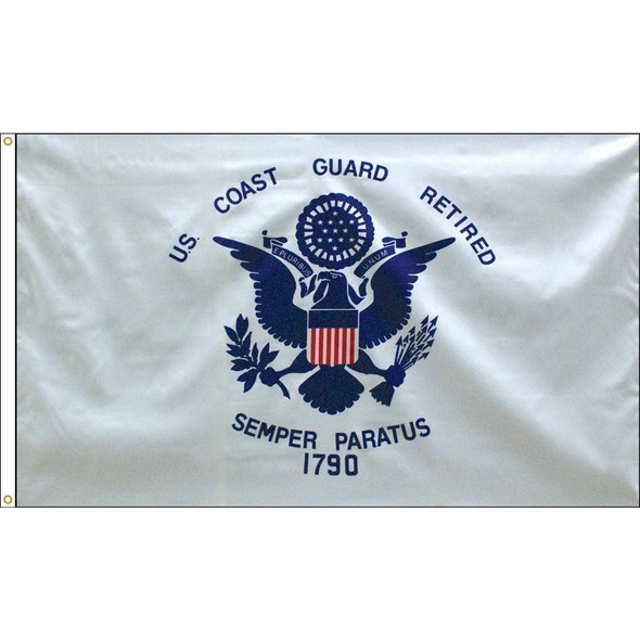 Coast Guard Retired 3 x 5 E-Poly Flag With Grommets