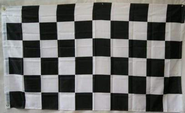 Black and White Checkered 4x6 Ft. Auto Racing Flag