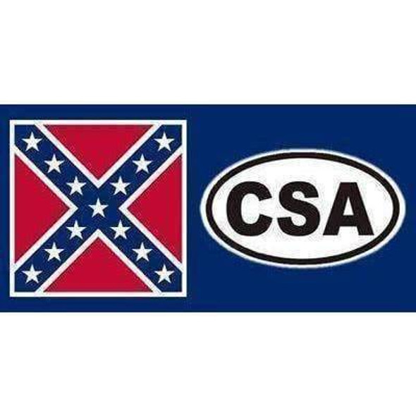 CSA with Rebel Flag  Bumper Sticker