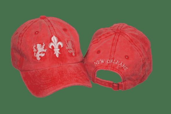 Fluer De Lis Red and White Cap