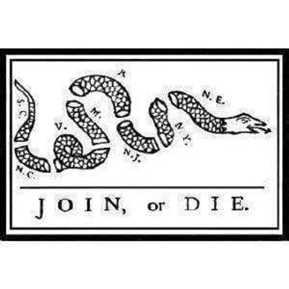 Join or Die Flag 2 X 3 ft.