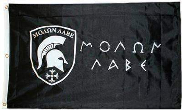 3x5 Molon Labe Flag - 2 Ply Nylon Embroidered