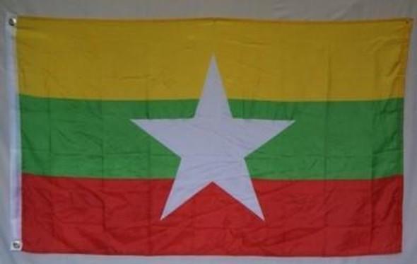 Myanmar (New 2010) (Burma)2 x 3 Flag