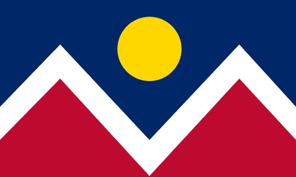Denver City Flag 3x5 Economical